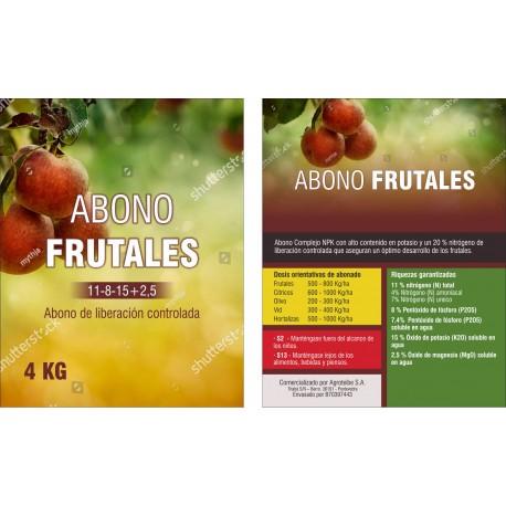 ABONO FRUTALES 4 KG ENVASADO EN CUBOS.