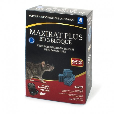 MAXIRAT PLUS BD 3 BLOQUE (portacebo listo uso)